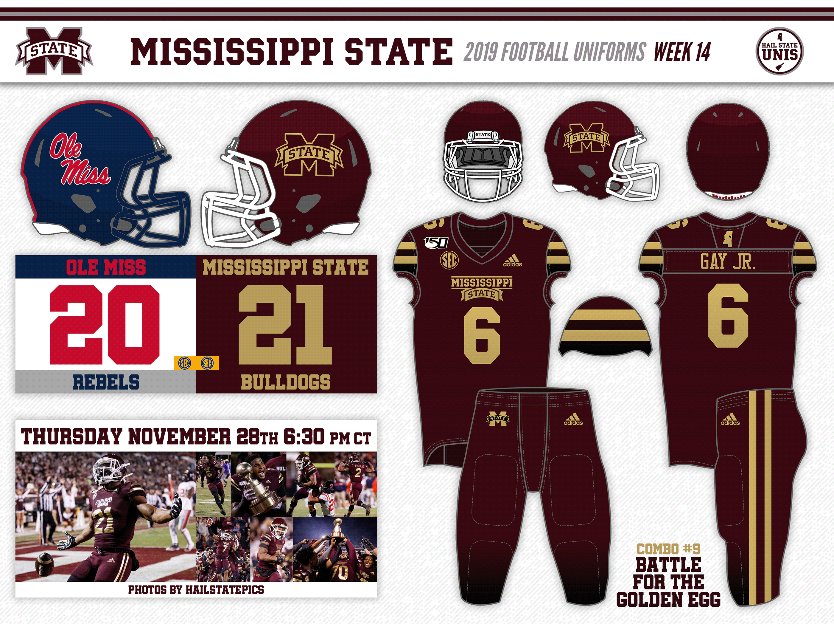 Mississippi State Brings Back The Gold Beats Ole Miss To Keep The Egg Hail State Unis