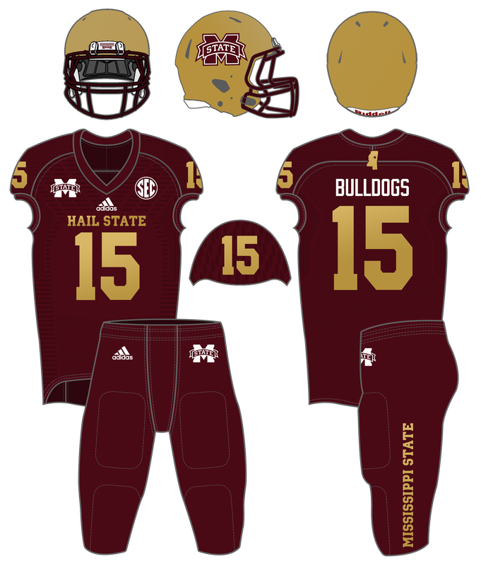 Football Uniform History - Hail State Unis fde953428