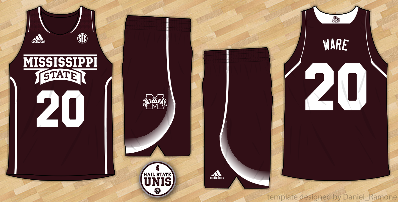 51ac150c8276 Men s Basketball Uniform History - Hail State Unis